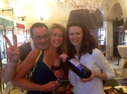 Joanne - Cortona in a wine glass -